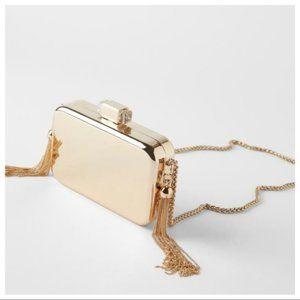 Zara Gold Box Bag Purse